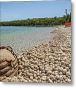 Schoolhouse Beach Washington Island Metal Print