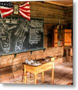 Schoolhouse Classroom At Old World Wisconsin Metal Print