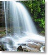 Schoolhouse Falls In Nantahala National Forest Panorama Metal Print