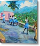 School's Out In Jamaica Metal Print
