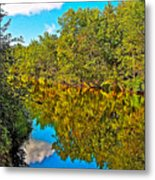 Schroon River Reflection In The Adirondacks-new York Metal Print