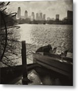 Schuylkill River In Winter Metal Print