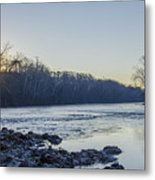 Schuylkill River Sunrise Linfield Pa Metal Print