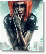 Sci-fi Beauty 3 Metal Print