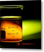 Scientific Beaker In Science Research Lab Metal Print