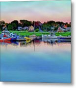 Scituate Harbor At Sunset Metal Print
