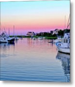 Scituate Harbor Sunset Metal Print