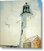 Scituate Light Metal Print