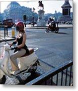 Scooter Girl Metal Print