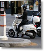 Scooter Girl Paris 1 Metal Print