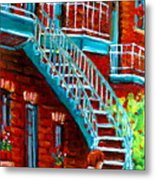 Scooter Ride Along Coloniale Street Metal Print