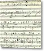 Score For The Opening Of Swan Lake By Tchaikovsky Metal Print
