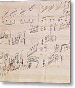 Score Sheet Of Moonlight Sonata Metal Print