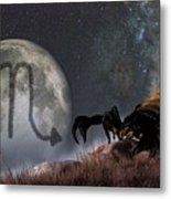 Scorpio Zodiac Symbol Metal Print