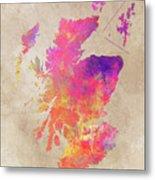 Scotland Map Metal Print