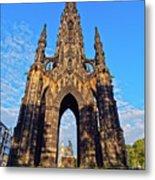 Scott Monument, Edinburgh, Scotland Metal Print