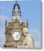 Scott Statue And Balmoral Clock Tower Metal Print