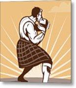 Scottish Games Metal Print