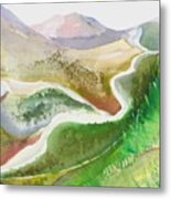 Scottish Glen Metal Print