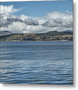 Scottish Panorama Over The River Clyde Metal Print