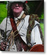 Scottish Soldier Of The Sealed Knot At The Ruthin Seige Re-enactment Metal Print