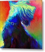 Scottish Terrier Dog Painting Metal Print