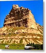 Scotts Bluff National Monument Panorama Metal Print