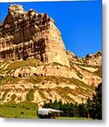 Scotts Bluff National Panoramic Landscape Metal Print