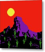 Scottsdale Mountain Metal Print