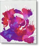 Scrambled Sunrise 2017 - Pink And Purple On White Metal Print