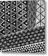 Scratchboard Kapa Pattern 1 Metal Print