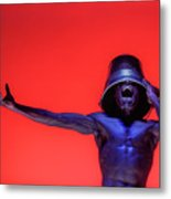 Screaming Dancer On Red Metal Print
