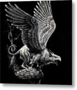 Screaming Griffon Metal Print