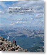 Scripture And Picture Micah 4 1 Metal Print