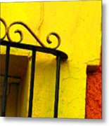 Scroll On Yellow By Michael Fitzpatrick Metal Print by Mexicolors Art Photography