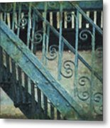 Scrolled Staircase By H H Photography Of Florida Metal Print