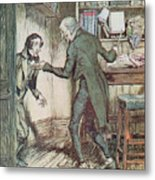 Scrooge And Bob Cratchit Metal Print