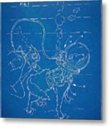 Scuba Doggie Patent Artwork 1893 Metal Print