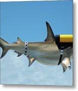 Scuba Shark Metal Print
