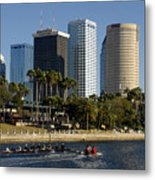 Sculling In Tampa Bay Florida Metal Print