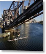 Sculling The Hillsborough Metal Print
