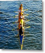 Sculling Women Metal Print