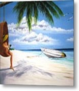 Scully's Boat Metal Print