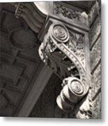 Sculpted Balcony Bracket Budapest Metal Print