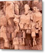 Sculpted Rocks Metal Print
