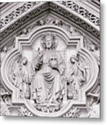 Sculpture Above North Entrance Of Westminster Abbey London Metal Print