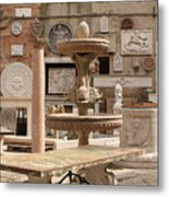 Sculpture Garden In Venice Metal Print