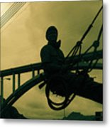 Sculpture - Hoover Dam Construction Worker Metal Print