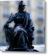 Sculpture In Front Of Orsay Museum Paris France Metal Print
