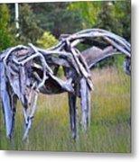 Sculpture Of Horse Metal Print